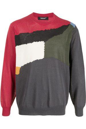 Undercover Intarsia knit crewneck jumper