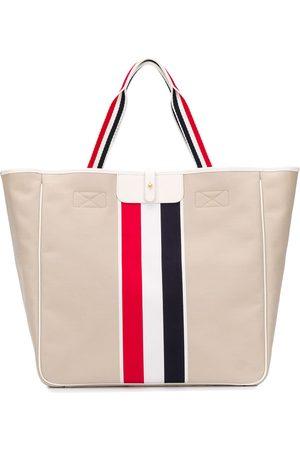 Thom Browne RWB-stripe tote bag