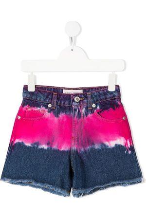 Alberta Ferretti Kids Meisjes Shorts - Tie-dye denim shorts