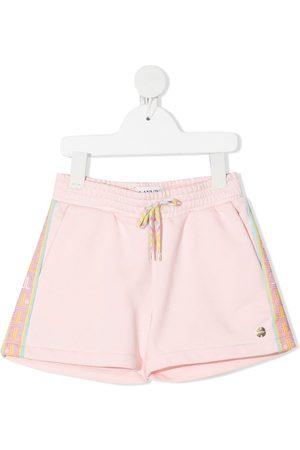 LANVIN Enfant Logo-tape cotton-blend shorts