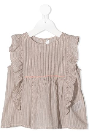 Bonpoint Embroidered flower ruffled blouse