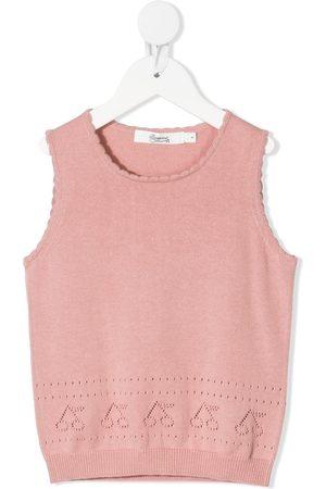 Bonpoint Cherry stitch sleeveless vest