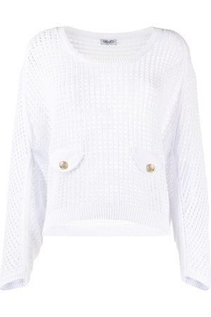 LIU JO Open-knit scoop-neck jumper