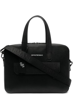 Emporio Armani Logo print briefcase