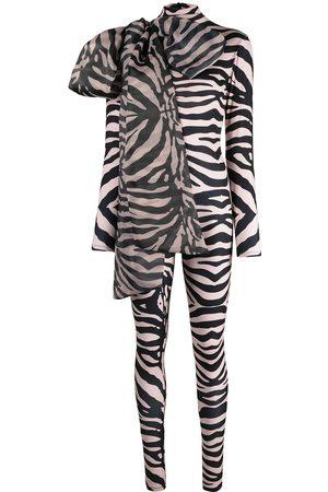 Atu Body Couture Dames Body's - Zebra print stretch bodysuit
