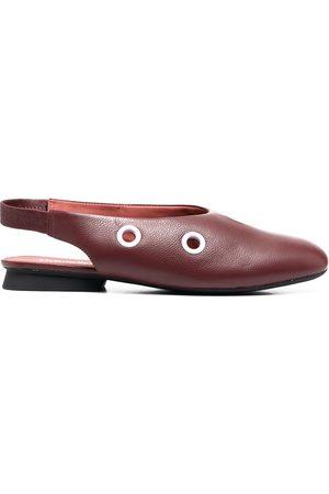 Camper Eyelet detail slingback ballerina shoes