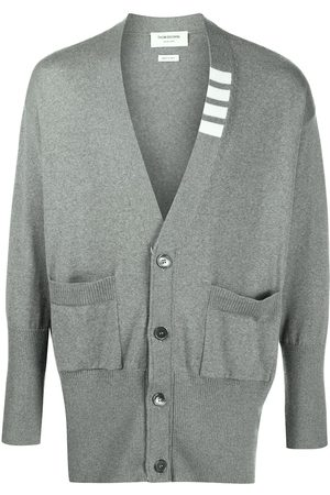 Thom Browne Heren Cardigans - 4-Bar stripe oversize cardigan