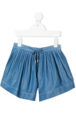 Chloé Kids Drawstring denim shorts