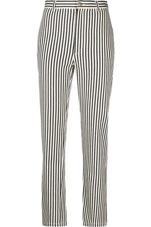Philosophy Di Lorenzo Serafini Dames Capri's - Vertical-stripe cropped trousers
