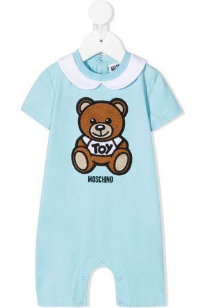Moschino Kids Logo teddy print romper