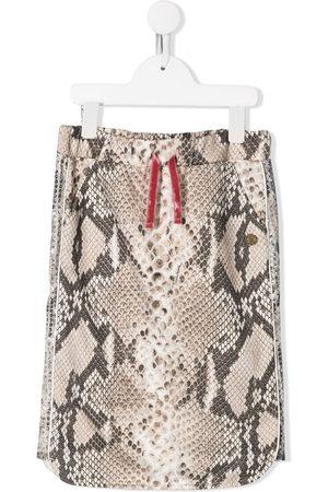 Roberto Cavalli Junior Snakeskin print skirt