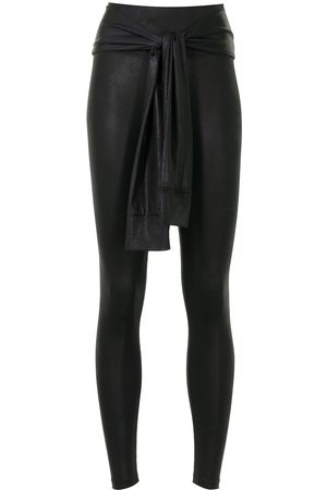 Lisa Von Tang Dames Leggings - Knotted-waist trousers
