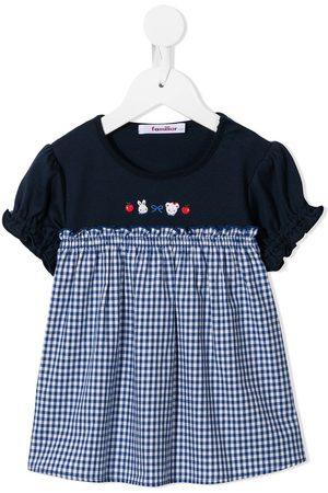 Familiar Meisjes Feestjurken - Panelled logo print dress