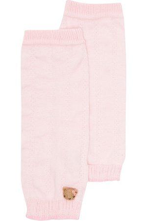 Familiar Meisjes Panty's - Teddy bear-motif knitted leg warmers