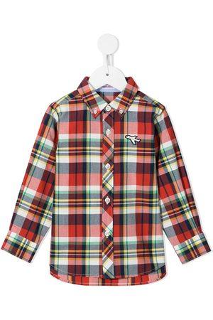 Familiar Jongens T-shirts - Plaid button-down shirt
