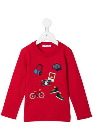 Familiar Jongens T-shirts - Embroidered motif long-sleeved top