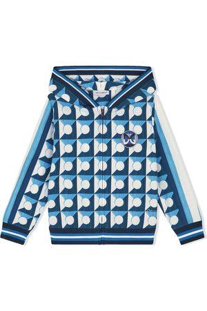 Dolce & Gabbana Kids Jongens Hoodies - Geometric-print zip-up hoodie