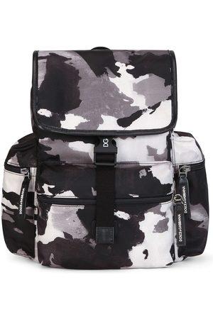 Dolce & Gabbana Kids Camouflage-pattern buckled backpack