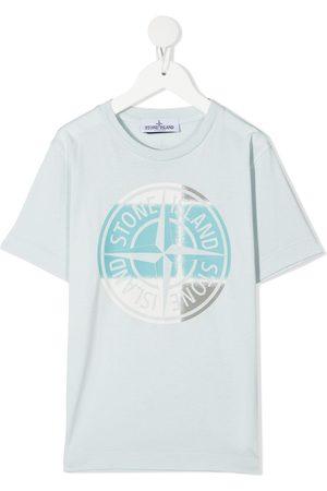Stone Island Junior Compass logo print T-shirt