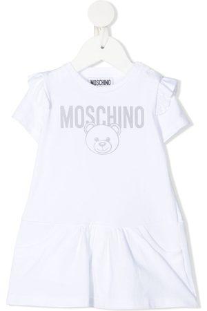 Moschino Kids Meisjes Geprinte jurken - Teddy bear-print short-sleeved dress