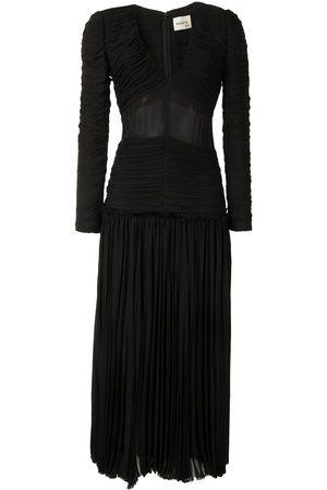 Khaite The Mary pleated georgette dress