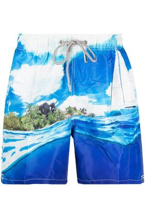 Mc2 Saint Barth Tropical-print swim shorts