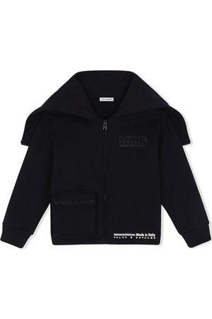 Dolce & Gabbana Kids Logo-print zip-detail hoodie