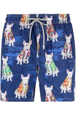 Mc2 Saint Barth Dog-print swim shorts