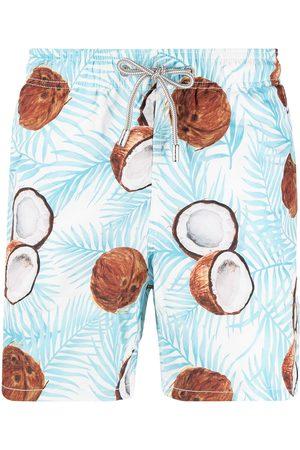 Mc2 Saint Barth Coconut-print elasticated-waist swim shorts