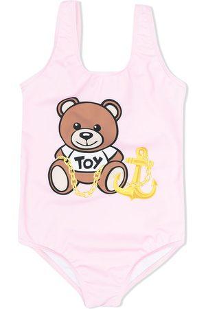 Moschino Kids Signature teddy swimsuit