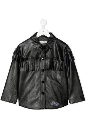 Philosophy Di Lorenzo Serafini Kids Fringe-trimmed faux-leather jacket