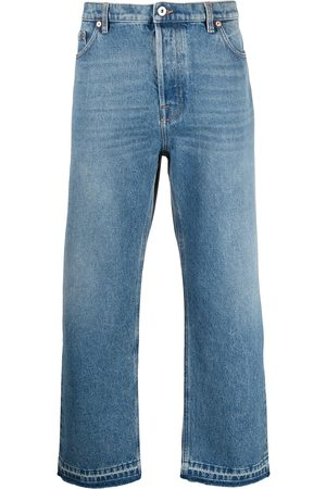 Valentino Dual material denim trousers