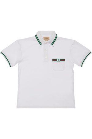 Gucci Jongens Poloshirts - Stretch Cotton Piqué Polo Shirt