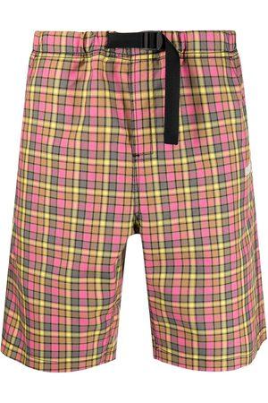 MSGM Check-print shorts