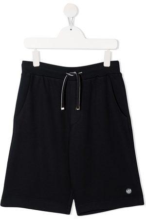 Emporio Armani Kids Logo-patch knee-length shorts
