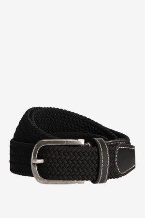 Sissy-Boy Heren Riemen - Zwarte braided stretch belt