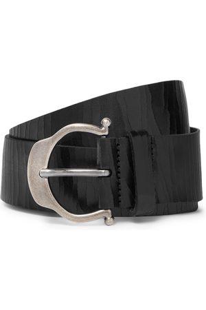 Saint Laurent 3.5cm Cracked-Leather Belt