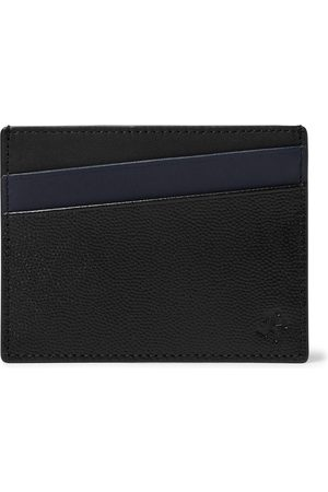 WANT LES ESSENTIELS Colour-Block Pebble-Grain Leather Cardholder