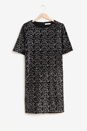 Sissy-Boy Zwarte mini jurk met pailletten