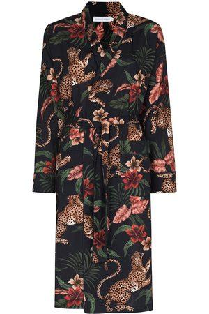 Desmond & Dempsey Soleia leopard-print midi robe