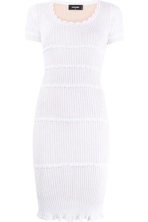 Dsquared2 Rib-knit fitted dress