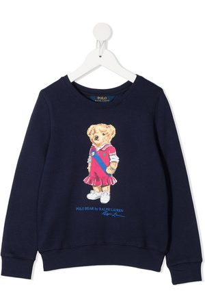 Ralph Lauren Kids Polo Bear-print rib-trimmed sweatshirt