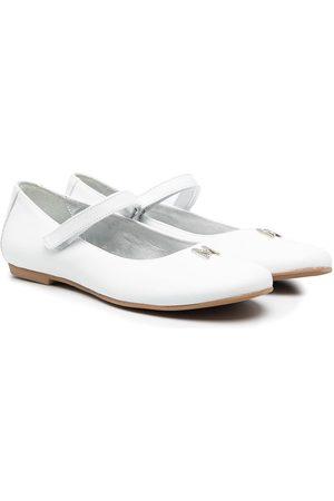 Monnalisa TEEN leather ballerina pumps