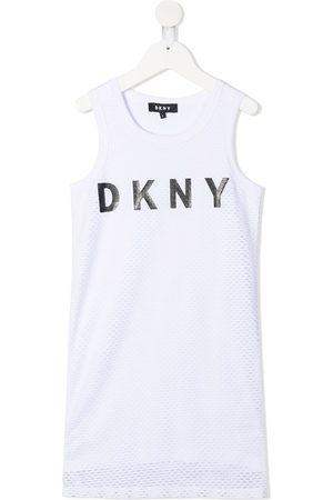 Dkny Kids Logo-print sleeveless dress