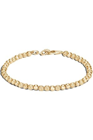 John Hardy 18kt yellow classic chain hammered beads bracelet