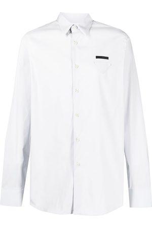 Prada Triangle patch button-down shirt