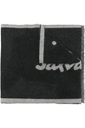 Salvatore Ferragamo Logo-intarsia wool scarf