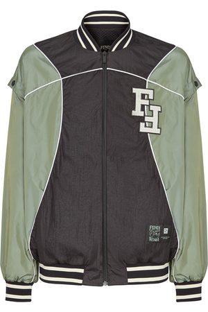 Fendi Detachable sleeves FF bomber jacket