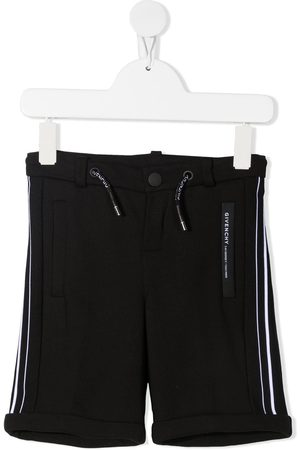 Givenchy Kids Striped band high-rise shorts