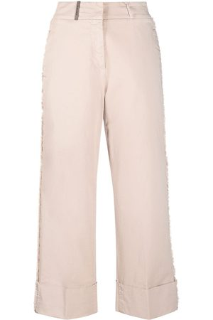 Peserico High-waist cropped trousers
